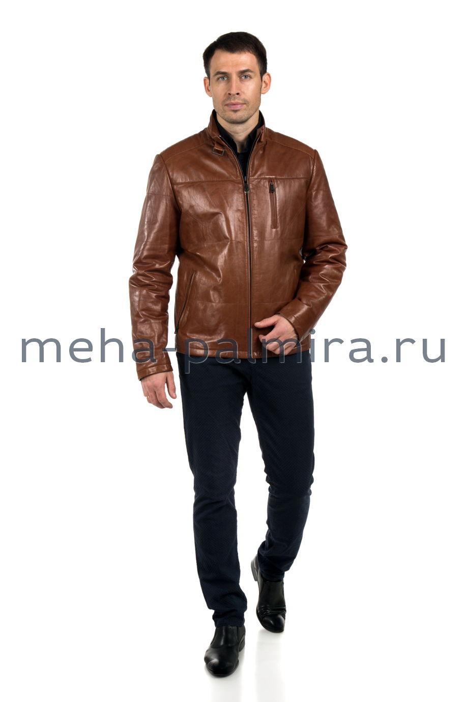 Куртка мужская на молнии коричневая