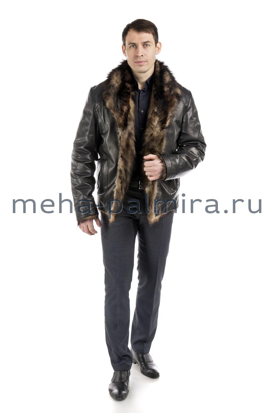 Мужская дубленка из натуральной кожи и меха тосканы