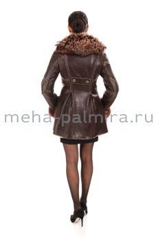 Дубленка женская с воротником из меха лисы