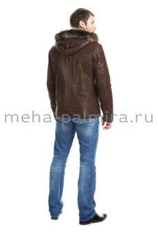 Дубленка мужская натуральная, съемный капюшон