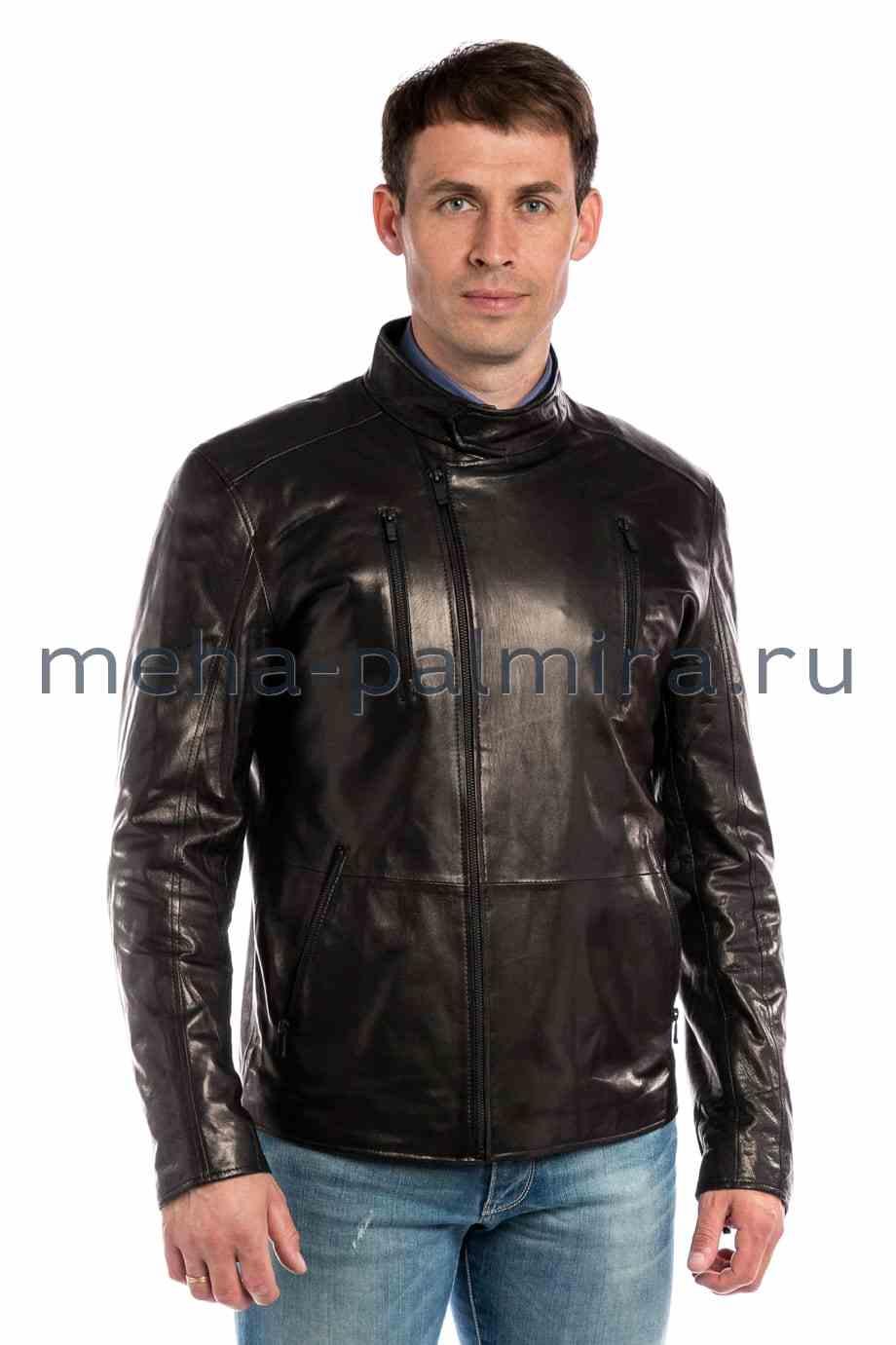 Мужская куртка - косуха из кожи воротник стойка