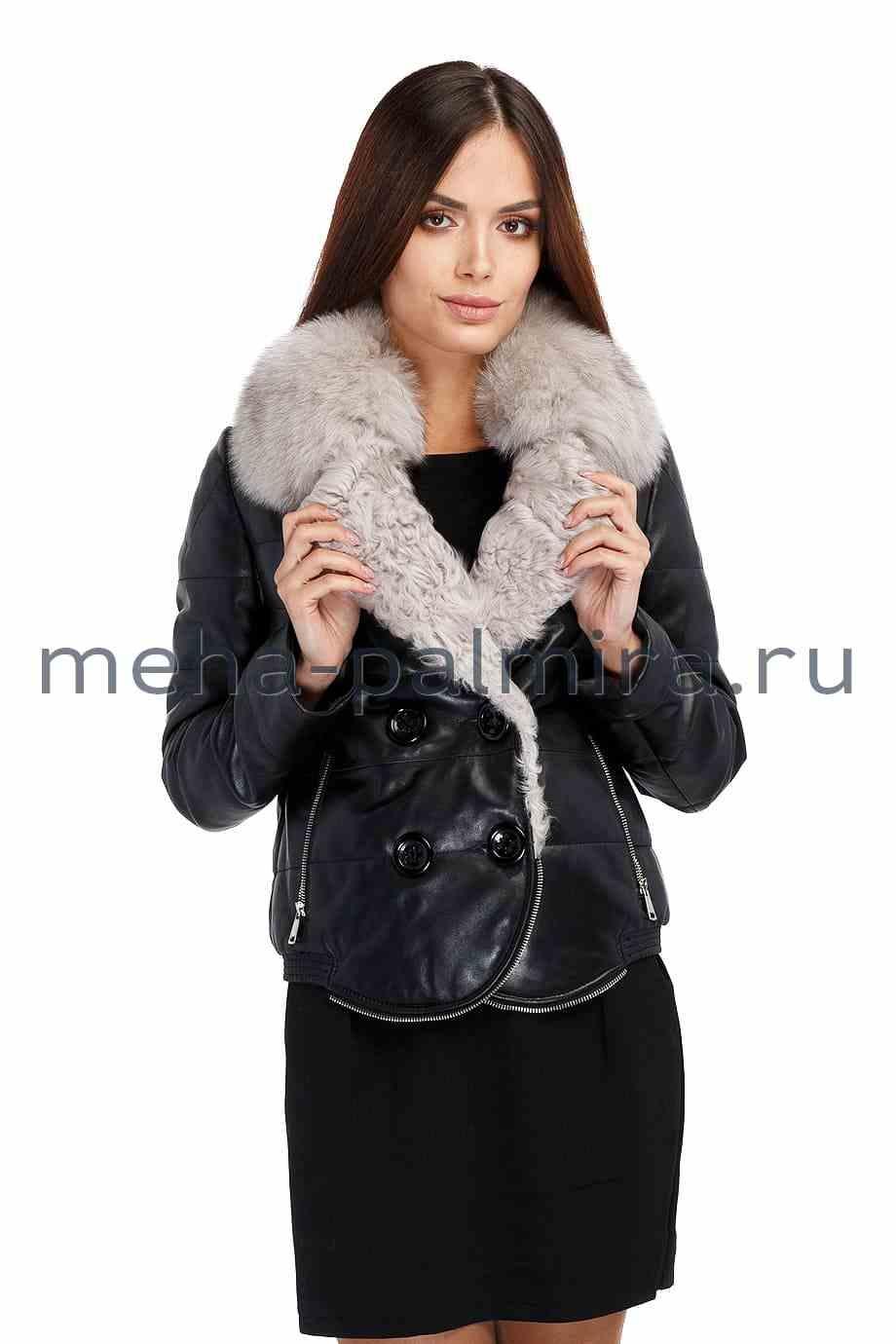 Черная куртка бомбер женская