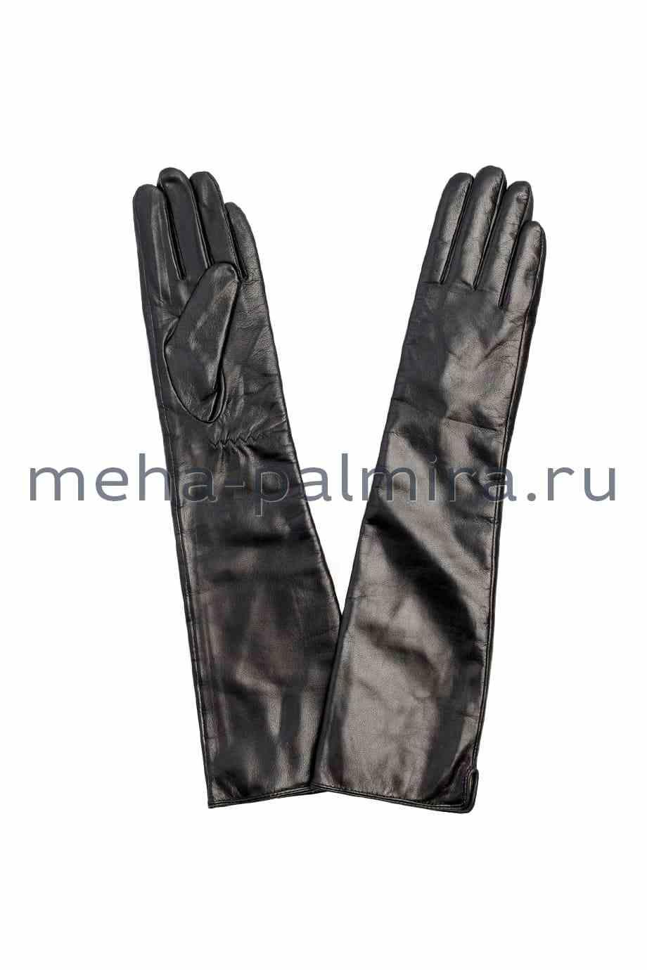 Зимние кожаные перчатки длинные (высокие)