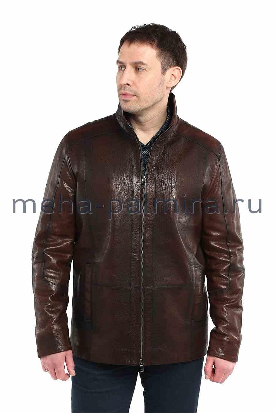 Удлиненная мужская куртка из кожи