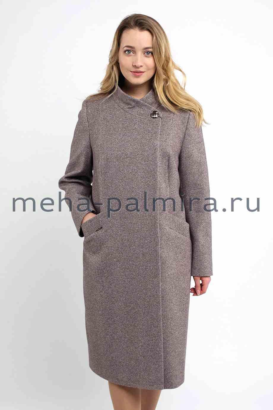 Удлиненное женское пальто воротник стойка