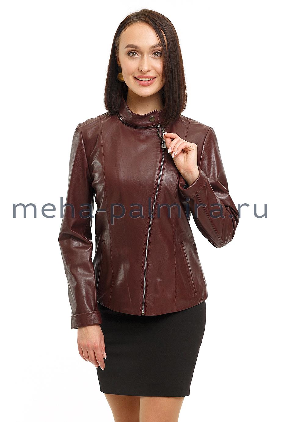 Куртка женская из кожи на молнии