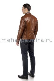 Мужская куртка из натуральной кожи на молнии