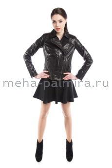 Модная женская косуха черного цвета