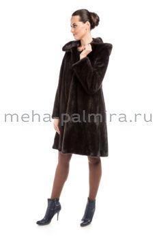 Шуба норковая балетка, цвет коричневый