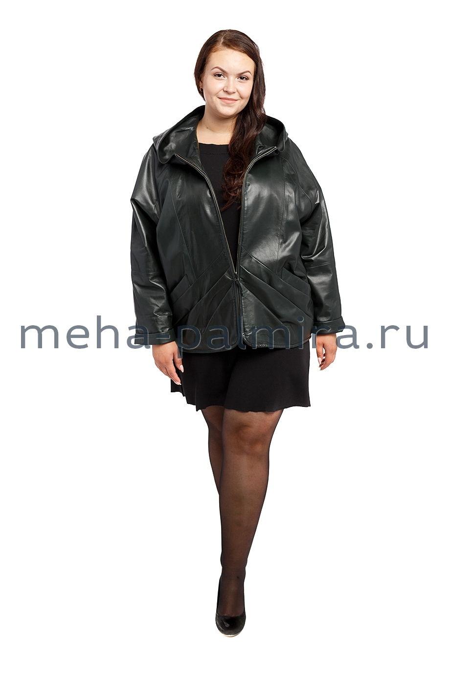 Кожаная куртка большого размера для женщин