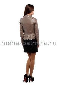 Женская куртка на молнии, цвет капучино