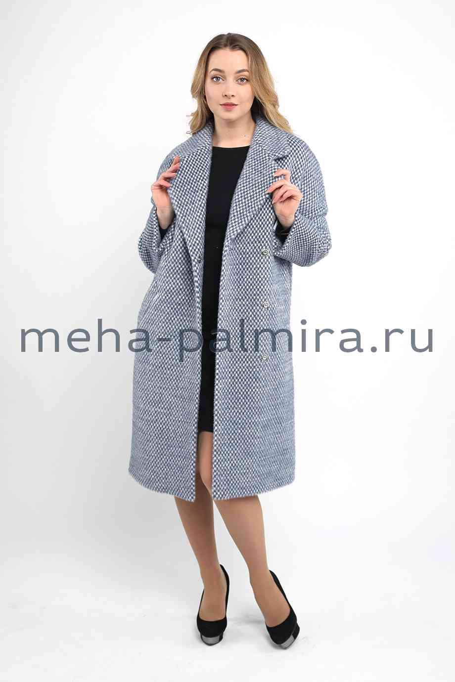 Пальто из шерсти с английским воротником